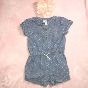 Carters 18M Romper Chambray